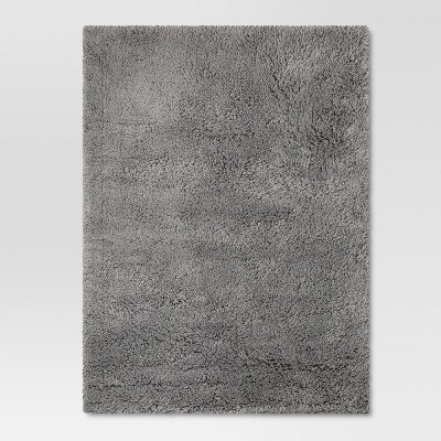 Grey Plush Shag Washable Rug 5'x7' - Room Essentials™