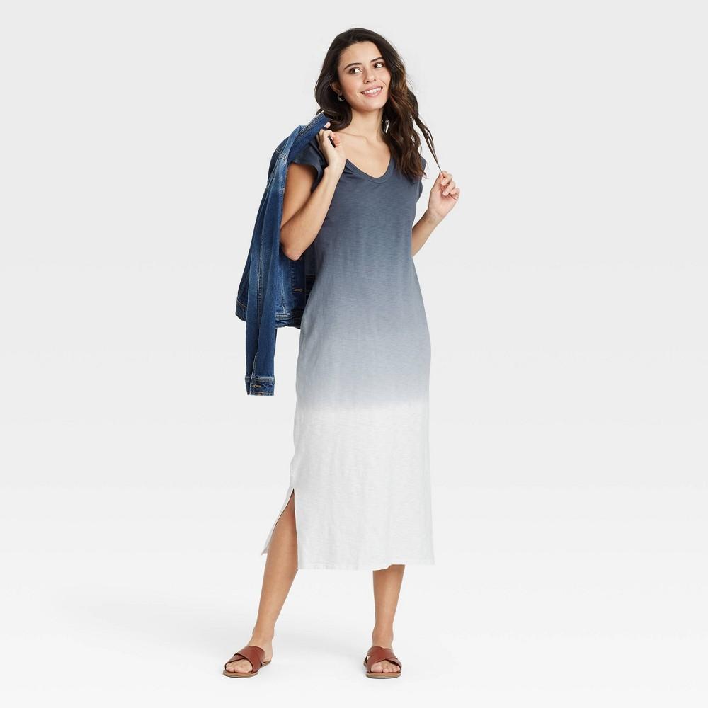 Women 39 S Tie Dye Sleeveless Knit Dress Universal Thread 8482 Navy Xs