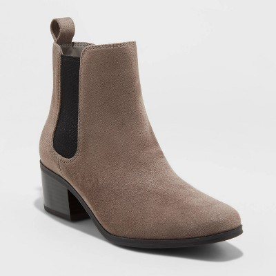Women's Ellie Chelsea Boots - A New Day™ Gray 5