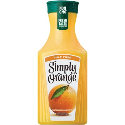 Simply Orange Pulp Free Juice - 52 fl oz