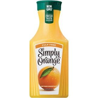 Simply Orange Pulp Free Juice - 52 fl oz Bottle