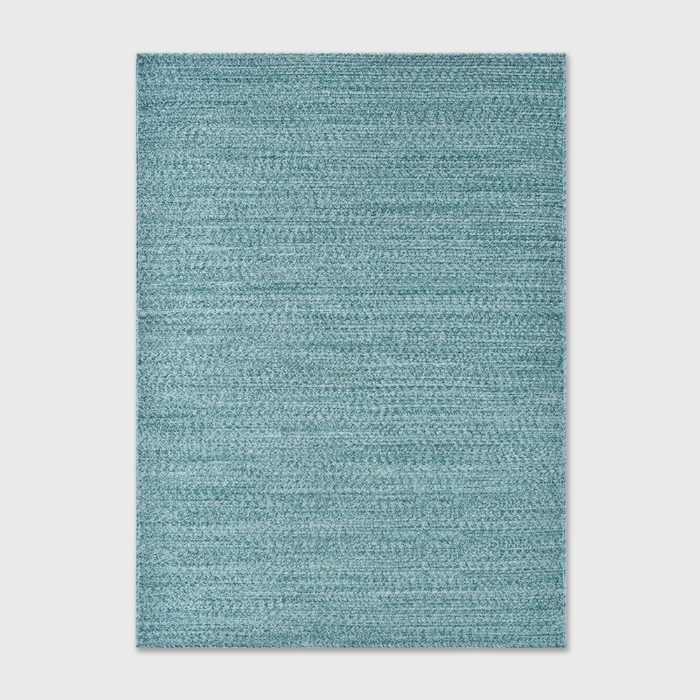 5 39 X 7 39 Outdoor Rug Woven Teal Project 62 8482
