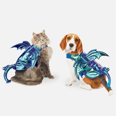 Iridescent Green Dragon Halloween Dog and Cat Costume - Hyde & EEK! Boutique™ - image 1 of 3