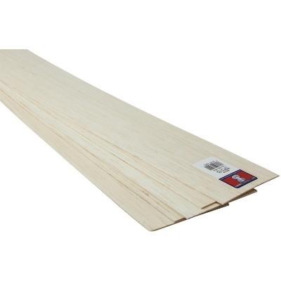 Balsa Sheet, 1/16 X 4 X 36 in, pk of 20