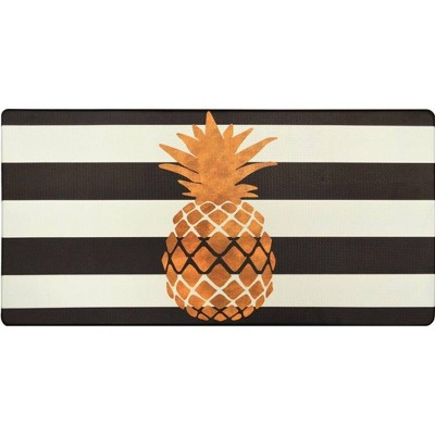 "39"" x 20"" PVC Pineapple Anti-Fatigue Kitchen Floor Mat - J&V Textiles"