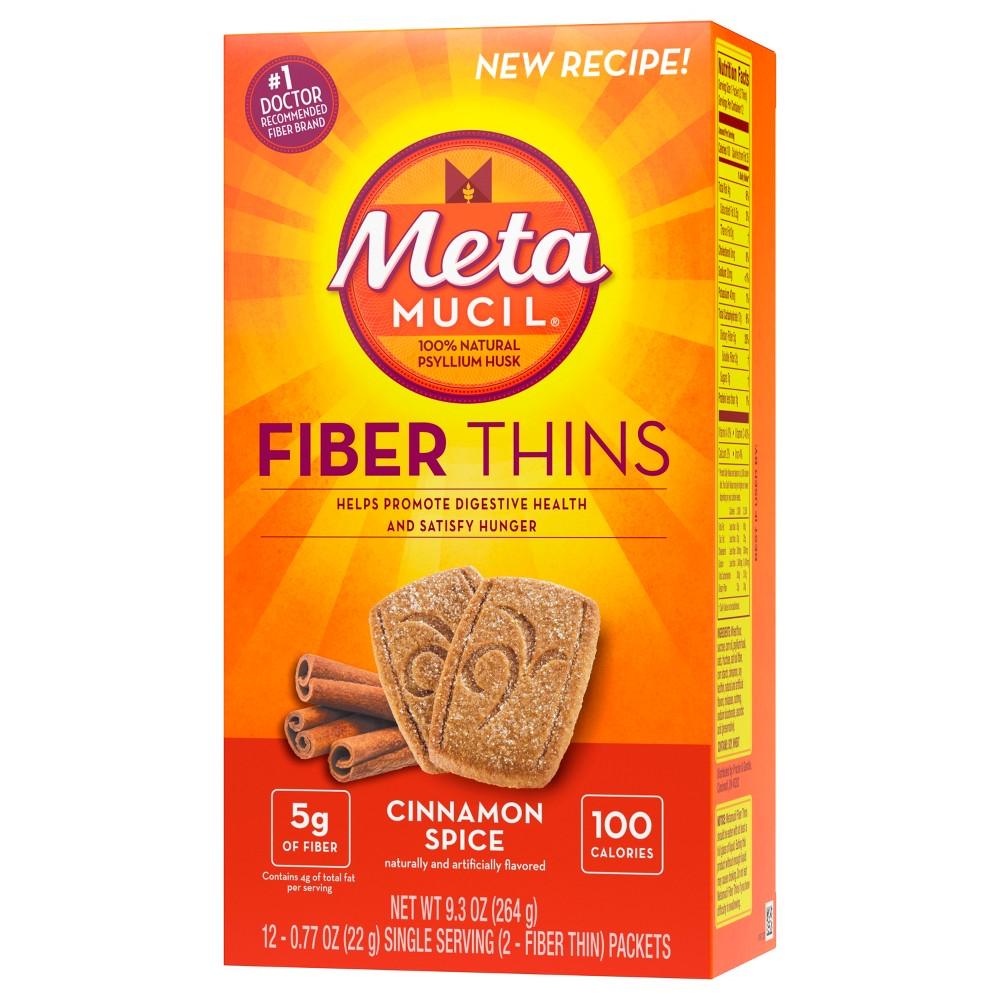 Metamucil Multi-grain Fiber Wafers - Cinnamon Spice - 12ct