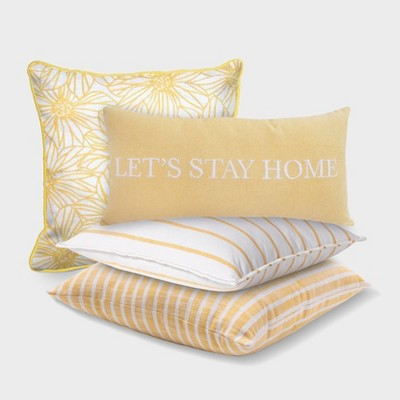 Yellow Floral and Striped Toss Throw Collection - Threshold™