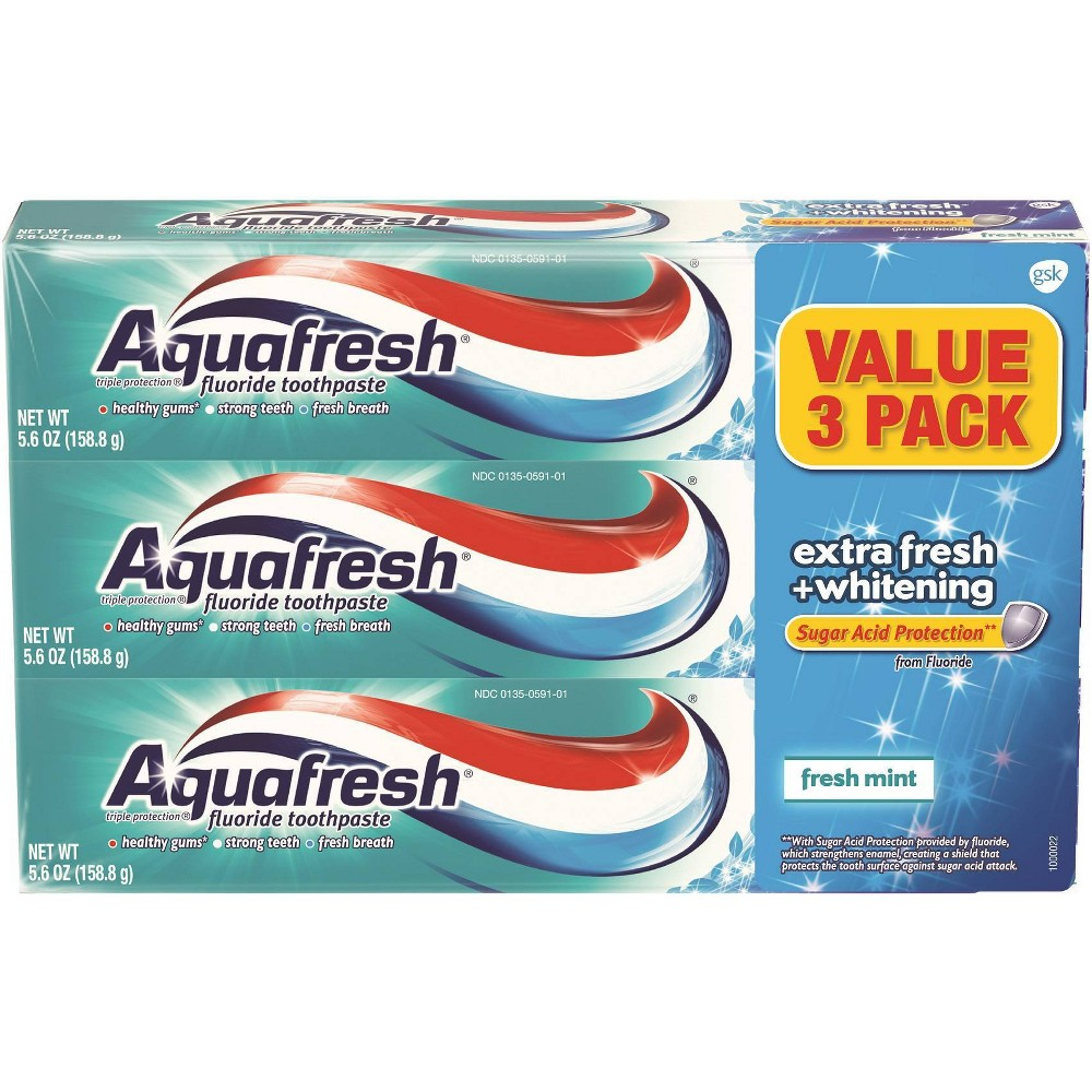 Image of Aquafresh Aquafresh EF + Whitening 3 pack - 16.8oz