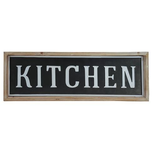Kitchen Wall Décor Black (24\