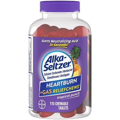 Alka-Seltzer Heartburn & Gas Relief Chews - 110ct
