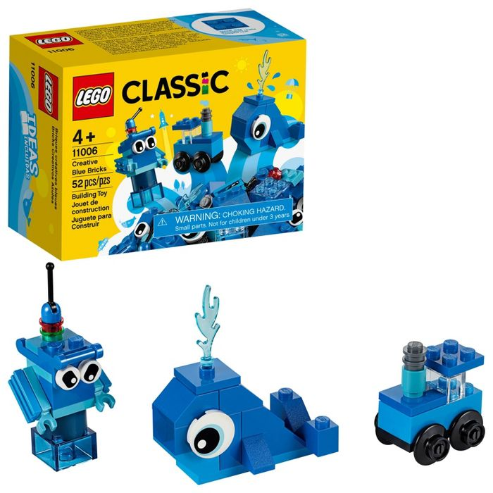 LEGO Classic Creative Blue Bricks 11006 Kids' Building Toy Starter Set