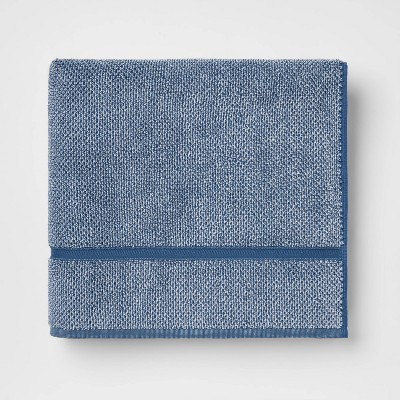 Performance Texture Bath Towel Dark Blue - Threshold™
