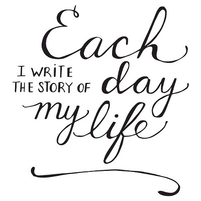 The Story of my Life Wall Decal - Black