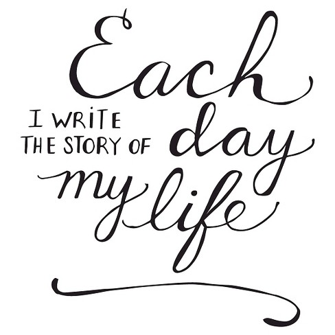 The Story of my Life Wall Decal - Black - image 1 of 2