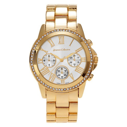 Women's Journee Collection Rhinestone Accent Roman Numeral Link Watch - image 1 of 2