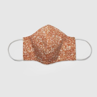 Women's Single Fabric Face Mask - Universal Thread™ Apricot Floral L/XL