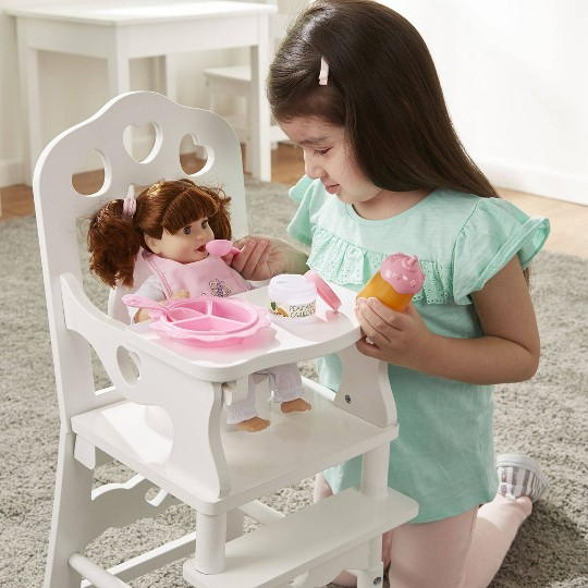 Melissa & Doug Mine to Love Time to Eat Doll 8 pc Accessories Feeding Set image number null