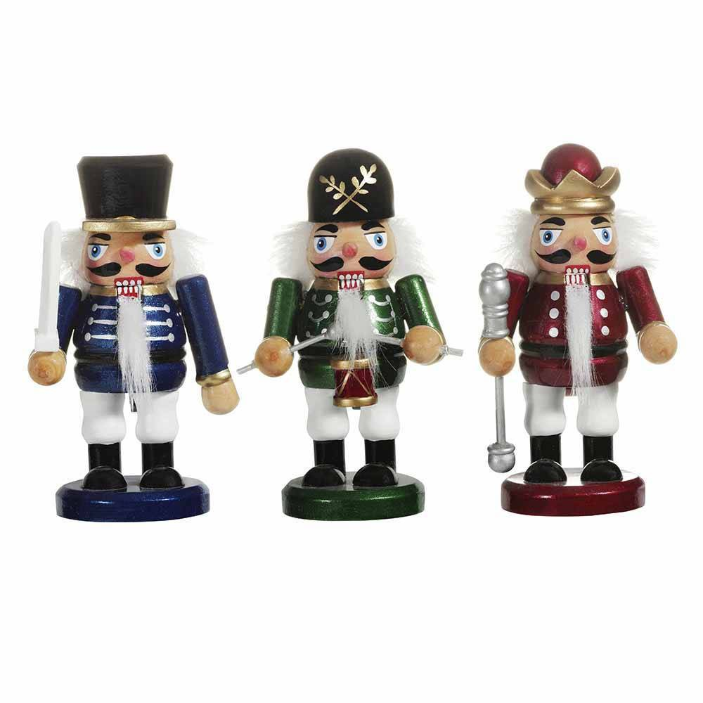 "Image of ""5""""/3pc Kurt Adler Chubby Nutcracker Decorative Sculpture Set"""