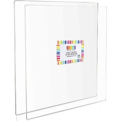 Bright Creations 2 Pack Acrylic Tracing Boards, Clear Sheets Set, Arts and Crafts (12 x 12 in)
