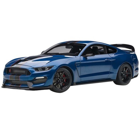 Lightning Blue Mustang >> Ford Mustang Shelby Gt 350r Lightning Blue With Black Stripes 1 18 Model Car By Autoart