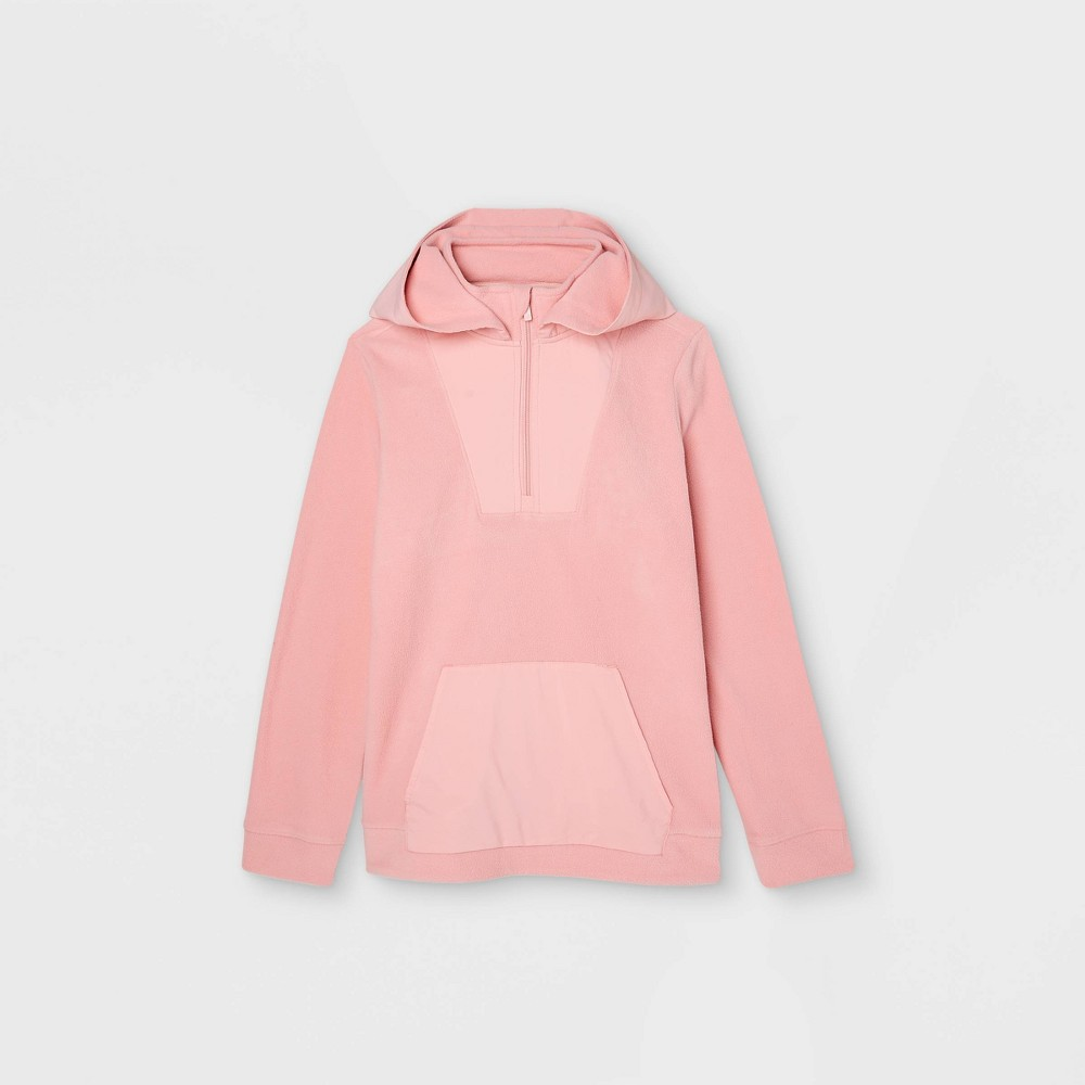 Boys 39 Fleece 1 4 Zip Pullover Hoodie Sweatshirt All In Motion 8482 Pink Xl