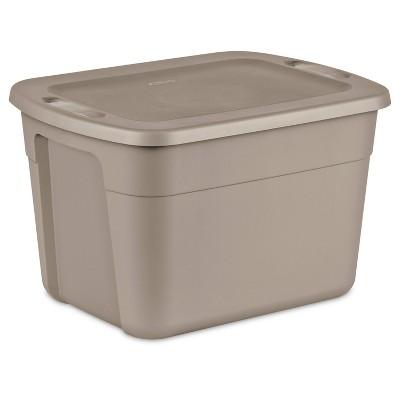 Sterilite 18gal Storage Tote Brown