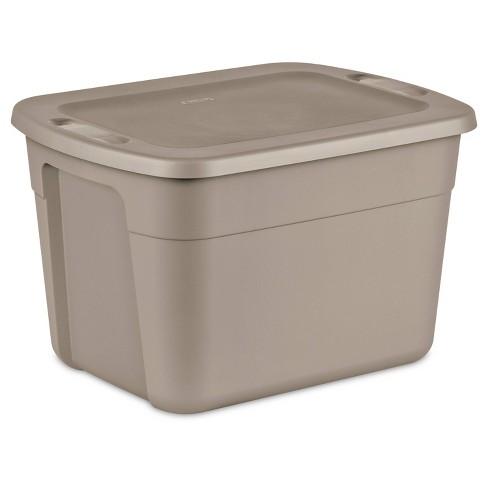 Sterilite 18gal Storage Tote Brown - image 1 of 4