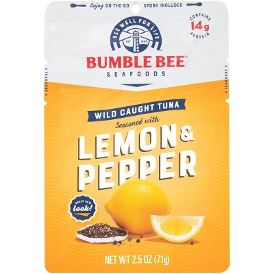 Bumble Bee Lemon & Pepper Seasoned Tuna Pouch with Spoon - 2.5oz