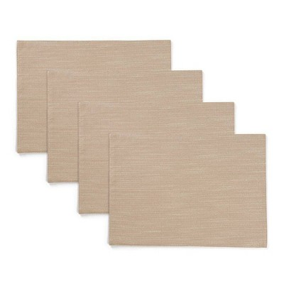 """4pk 13""""X19"""" Harper Placemats Beige - Town & Country Living"""
