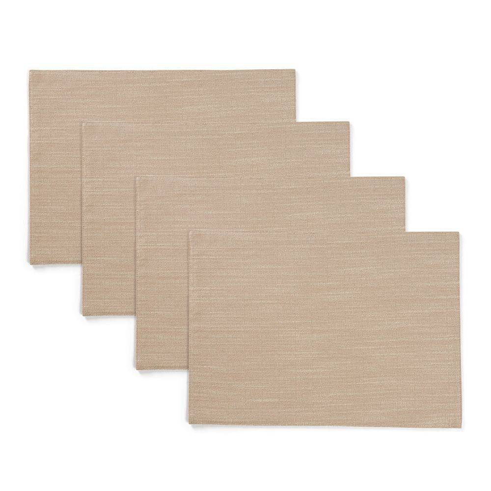 """Image of """"4pk 13""""""""X19"""""""" Harper Placemats Beige - Town & Country Living"""""""