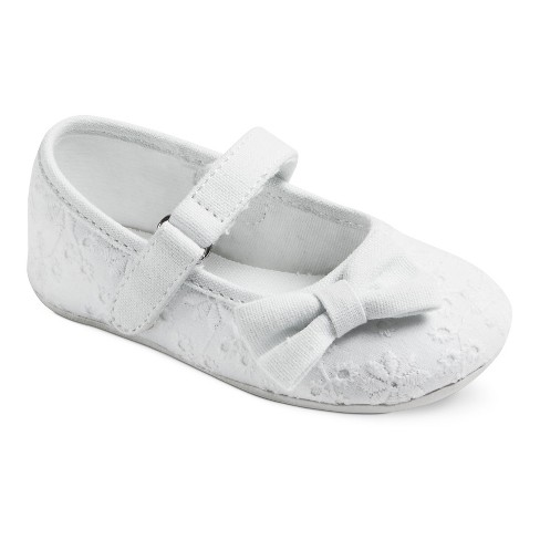 Girls' Genuine Kids® Alberta Eyelet Ballet Flats - White - image 1 of 3