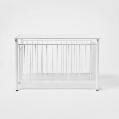 Stackable Slide Out Drawer Organizer Medium White - Threshold™
