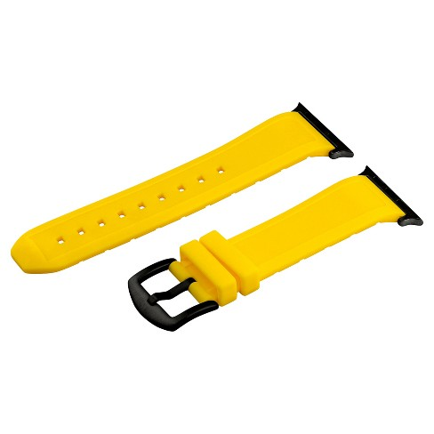 Clockwork Synergy Divers Silicone Apple Watch Band 42mm with Black Adapter - Yellow - image 1 of 1