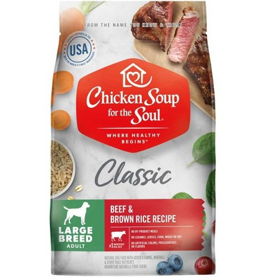 Chicken Soup for the Soul Chicken, Turkey & Brown Rice Recipe Dry Dog Food Mature 28 lb