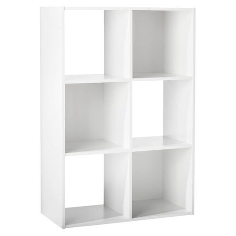 "6-Cube Organizer Shelf White 11"" - Room Essentials™ - image 1 of 4"
