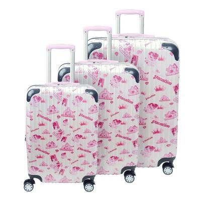 FUL Disney Princess 3pc Hardside Luggage Set