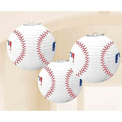 Birthday Express Baseball Lanterns - 3 Pack