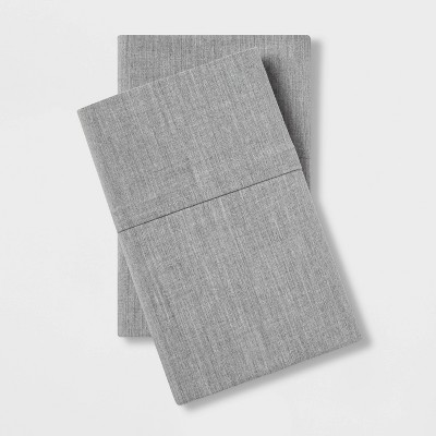 Standard Easy Care Pillowcase Set Gray - Made By Design™