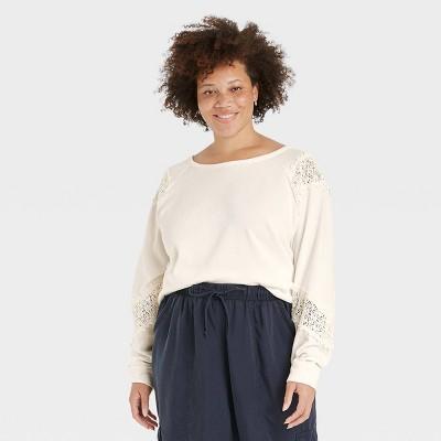 Women's Trim Details Novelty Sweatshirt - Knox Rose™