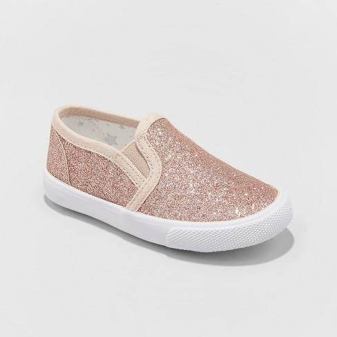 e5f8f40c6a03a Toddler Girls  Margarita Glitter Sneakers - Cat   Jack™ Rose Gold