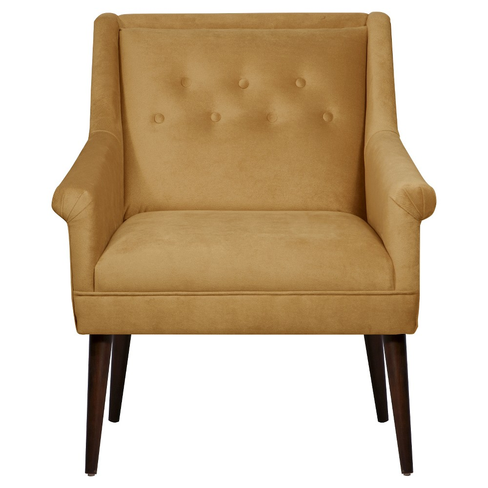 Button Tufted Chair in Mystere Moccasin - Skyline Furniture