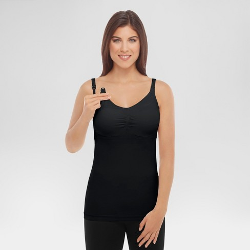 bravado!™ BASICS Women's Slimming Nursing Cami with Removable Pads - Black S - image 1 of 5