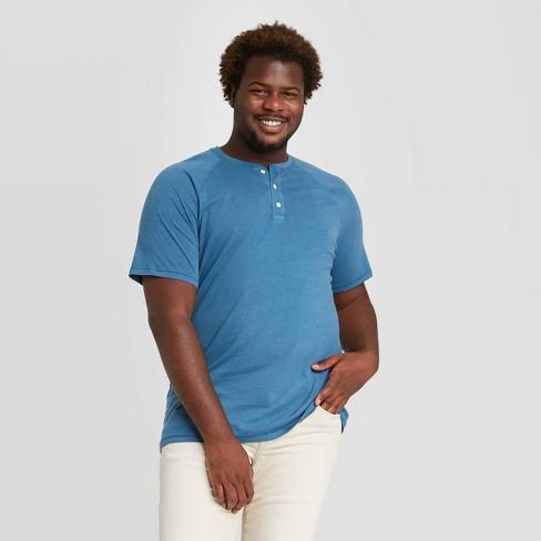 Men's Big & Tall Standard Fit Short Sleeve Henley T-Shirt - Goodfellow & Co™ - image 1 of 3