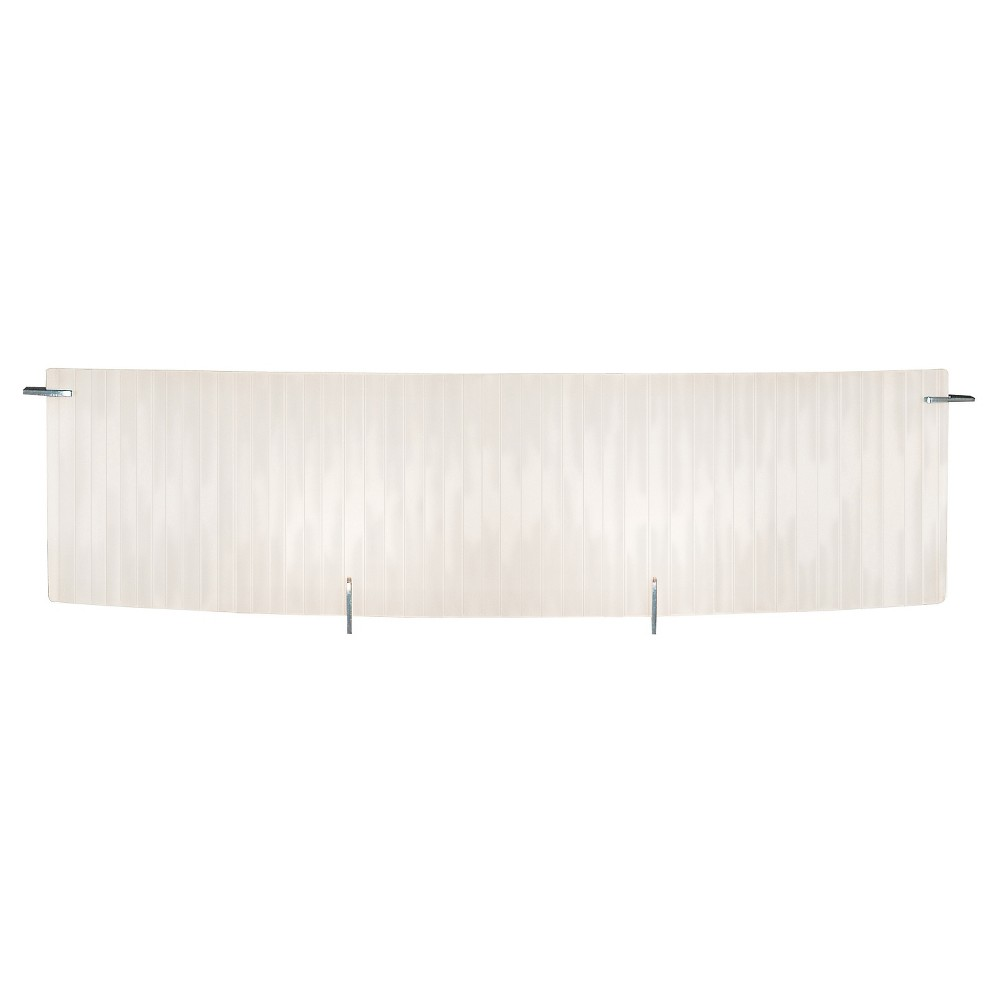 Oxygen Linear Bath Light with Checkered Frosted Glass Shade - Chrome (25), Silver