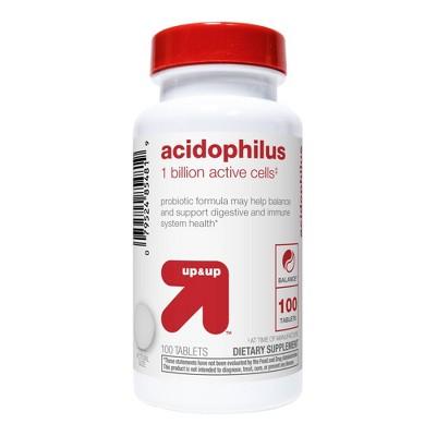 Acidophilus 1 Billion Active Cells Probiotic Tablets 100ct - up & up™