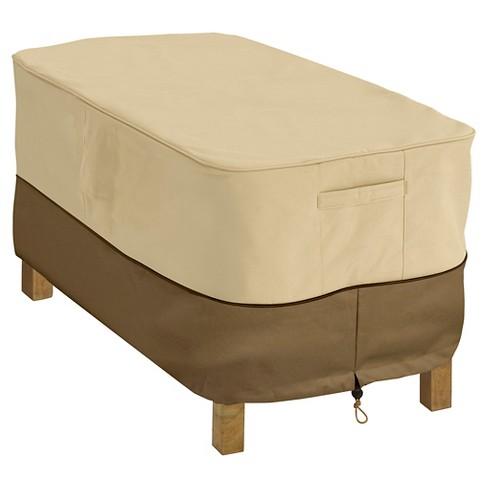 Veranda Rectangular Patio Coffee Table Cover - Light Pebble - Classic  Accessories - Veranda Rectangular Patio Coffee Table Cover - Light Pebble