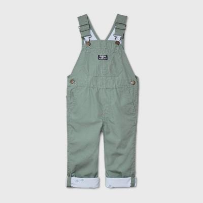 OshKosh B'gosh Toddler Boys' Lined Overall Romper - Green 4T