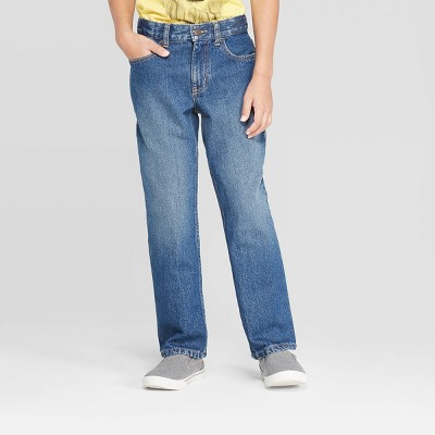 Boys' Relaxed Straight Fit Jeans - Cat & Jack™ Medium Wash