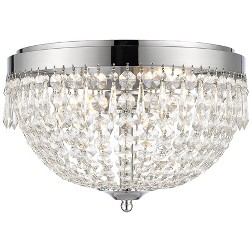 Z-Lite 431F4 Danza 4 Light Flush Mount Ceiling Fixture