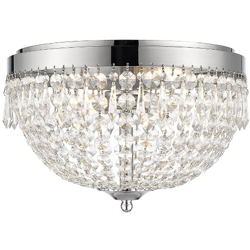 Z-Lite 431F4 Danza 4 Light Flush Mount Ceiling Fixture - image 1 of 1